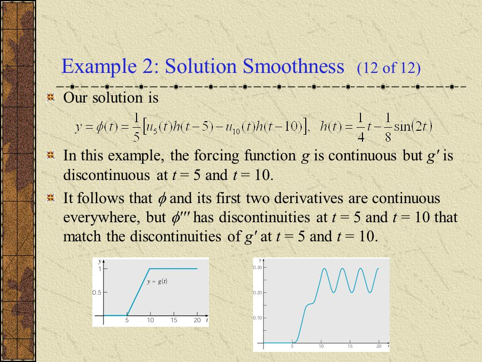 Example 2: Solution Smoothness (12 of 12)