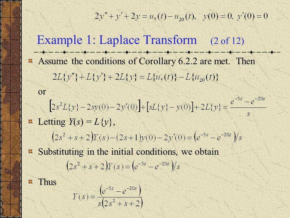 Example 1: Laplace Transform (2 of 12)