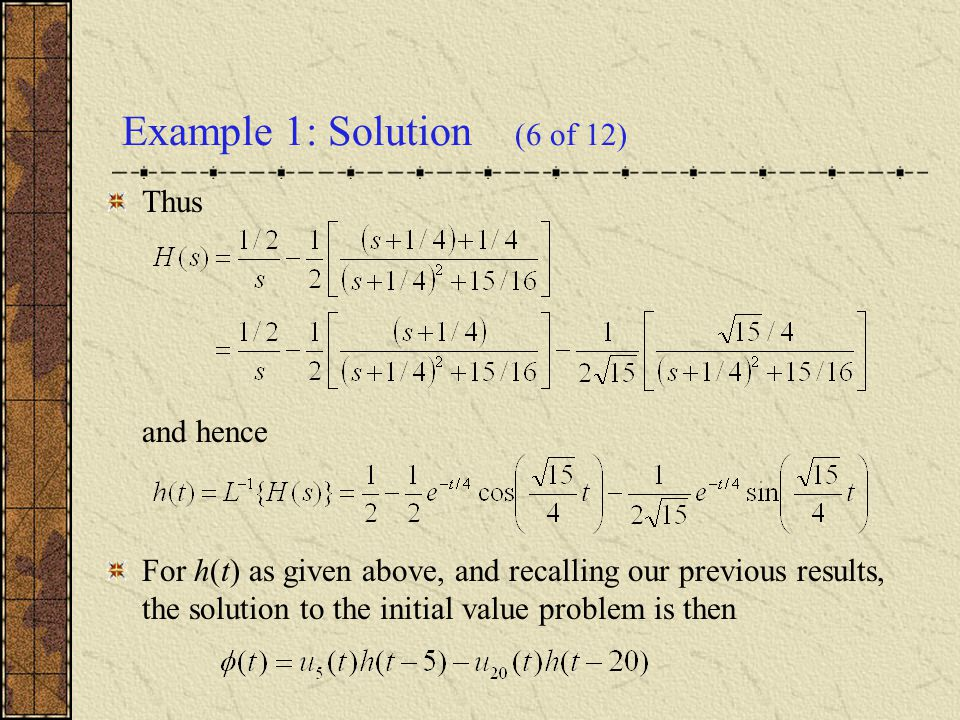 Example 1: Solution (6 of 12)