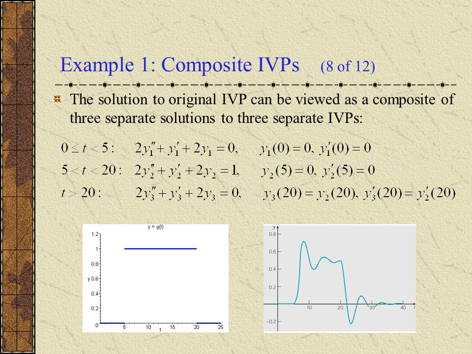 Example 1: Composite IVPs (8 of 12)
