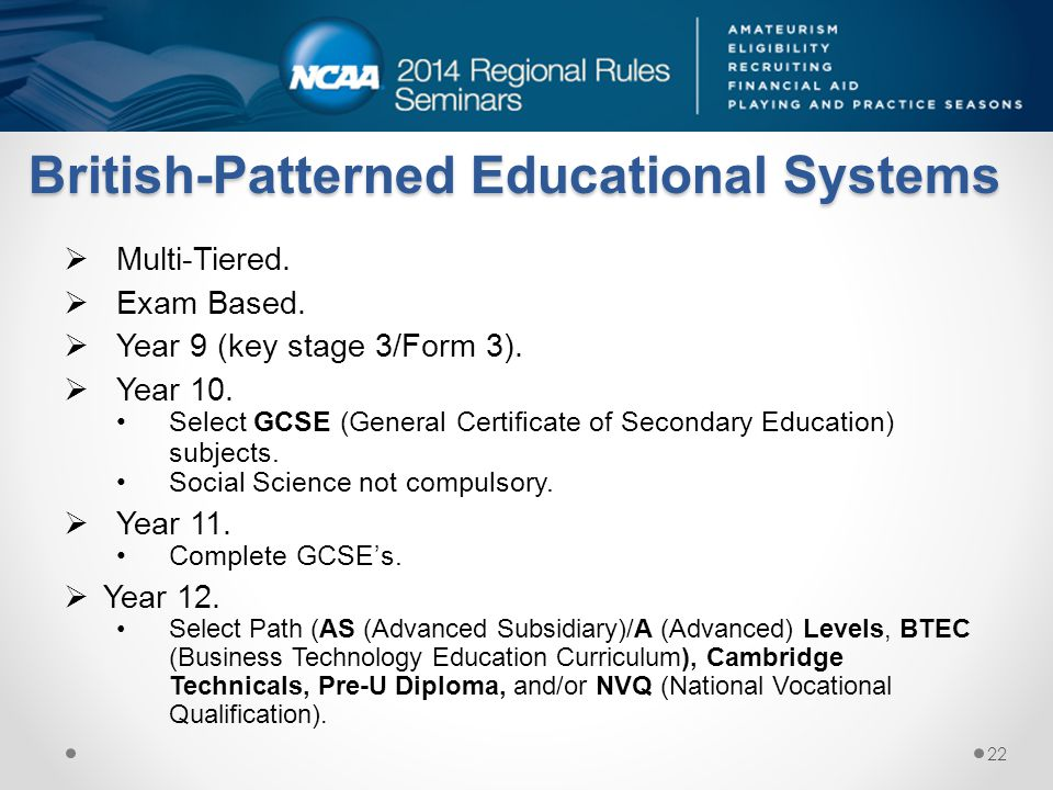 British-Patterned Educational Systems