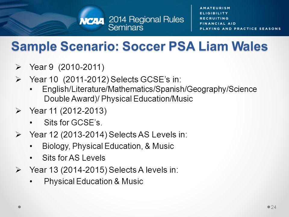 Sample Scenario: Soccer PSA Liam Wales