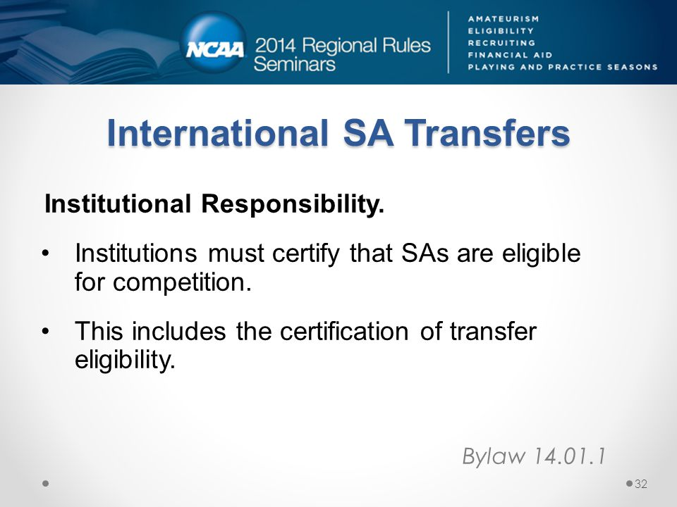International SA Transfers