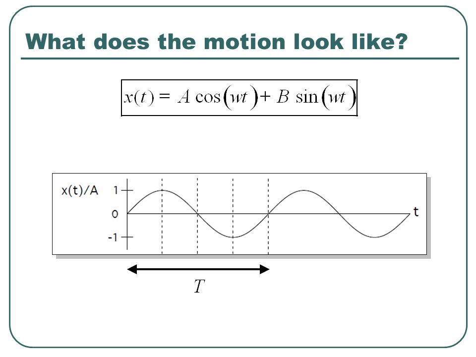 What does the motion look like