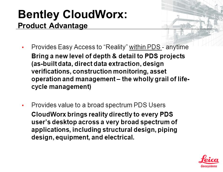 Bentley CloudWorx: Product Advantage