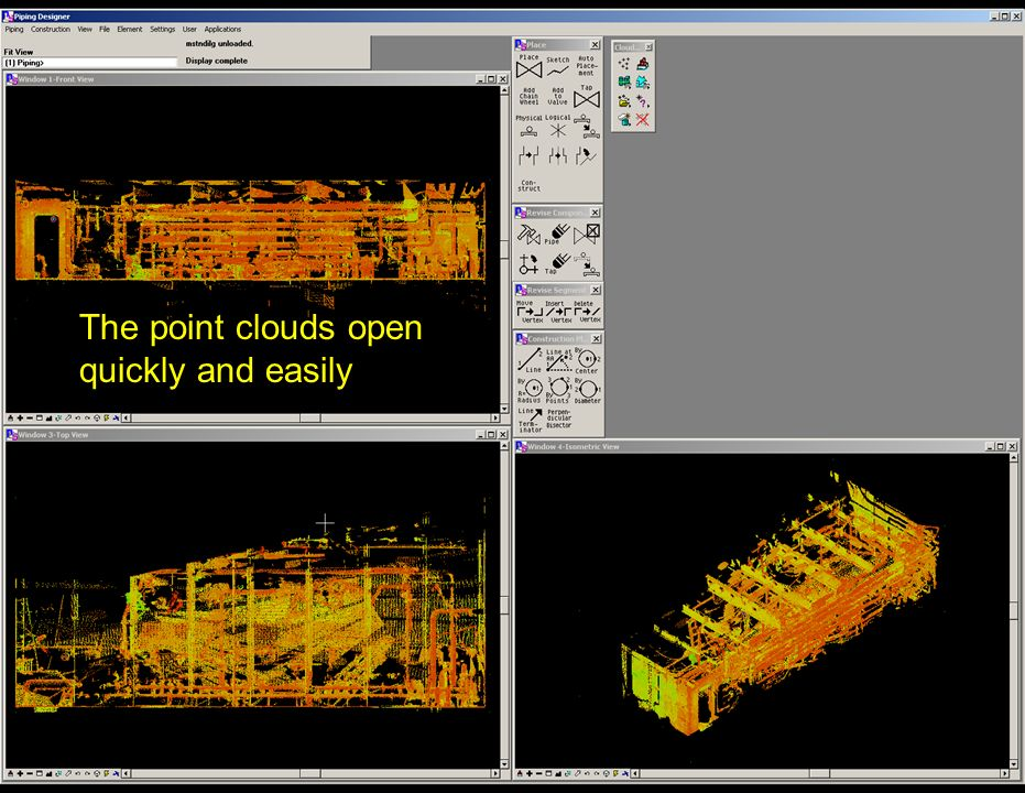 The point clouds open quickly and easily