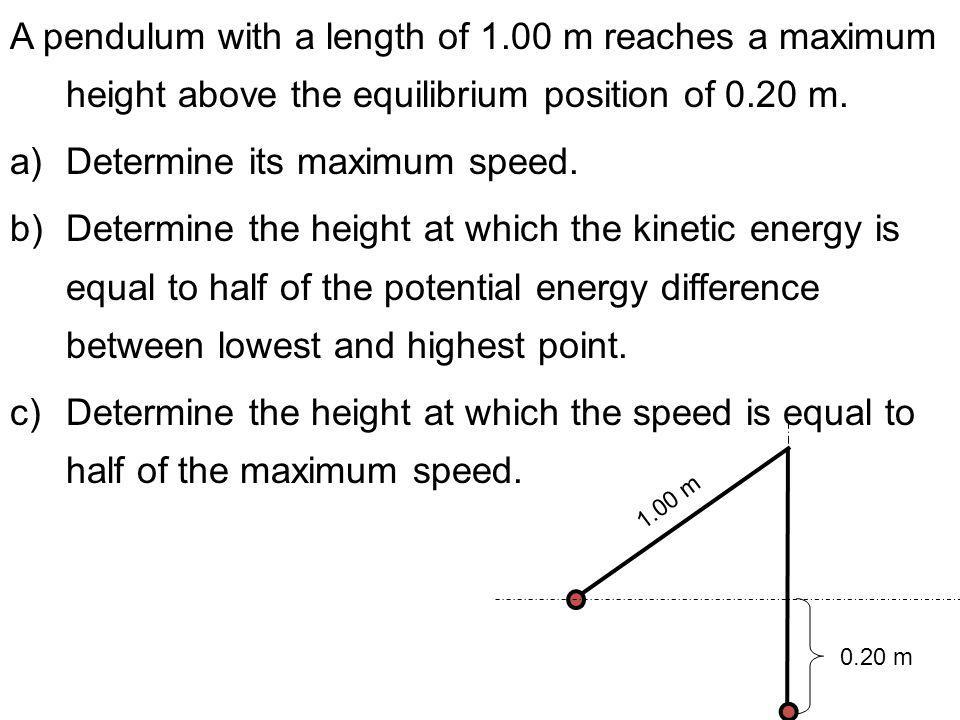 Determine its maximum speed.