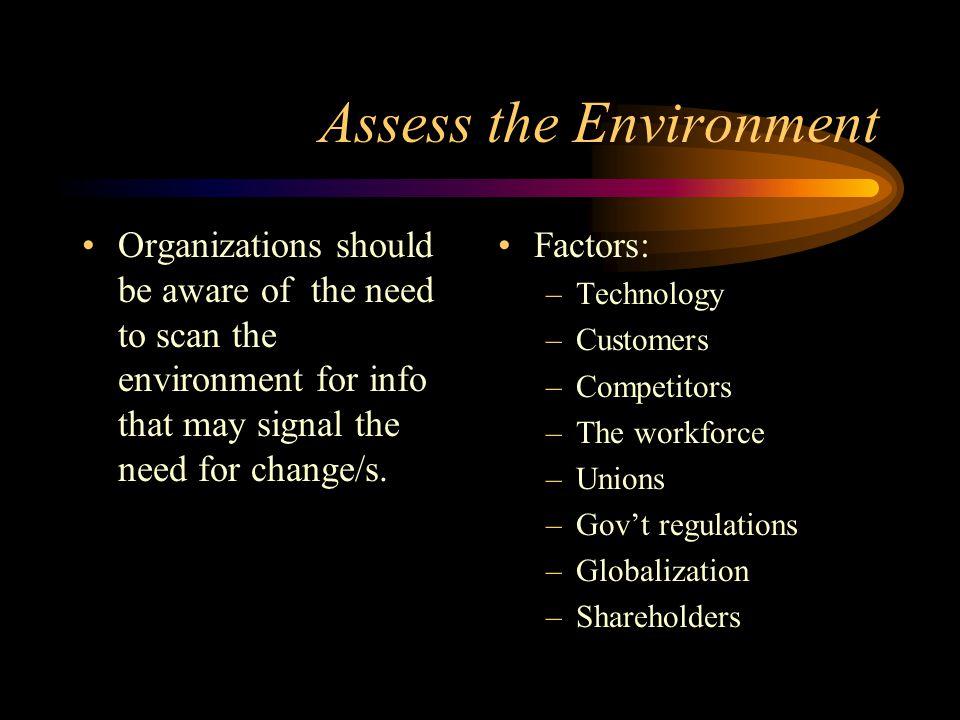 Assess the Environment