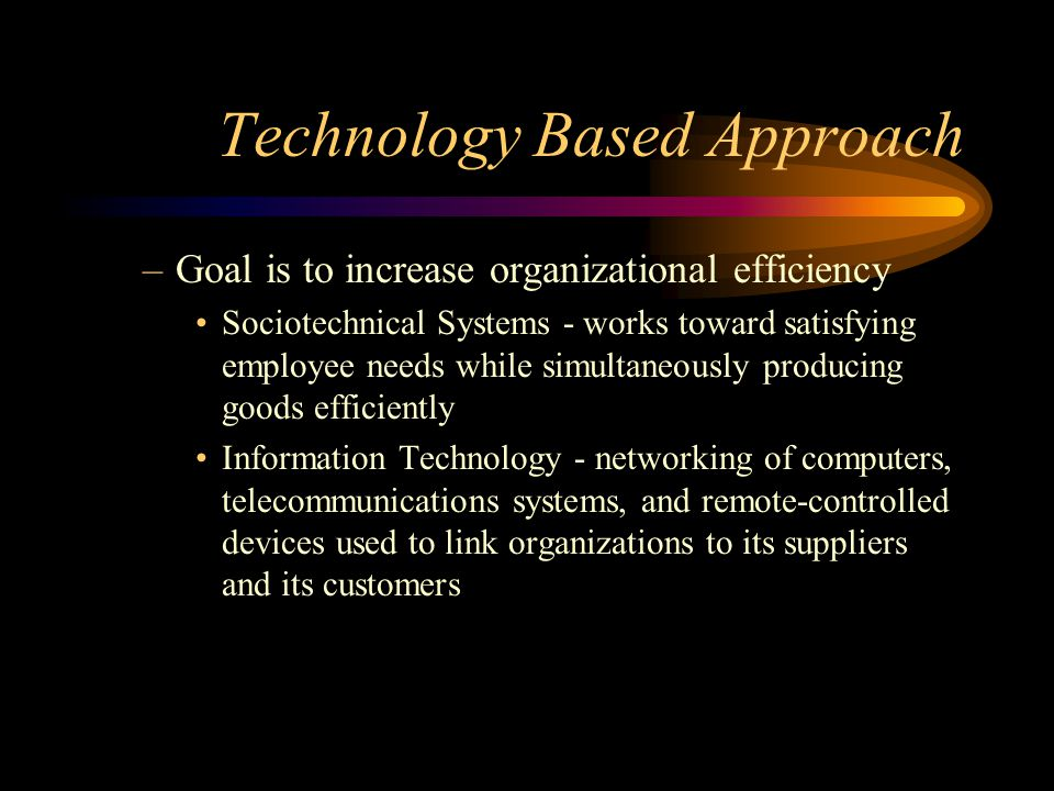 Technology Based Approach