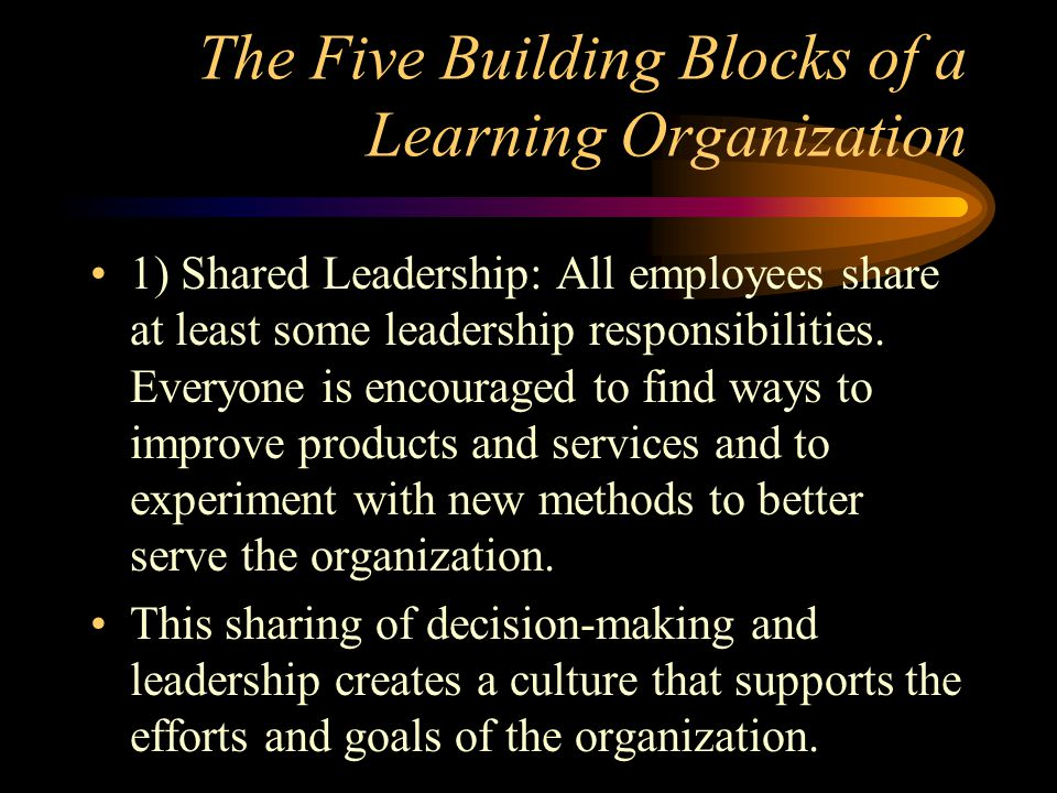 The Five Building Blocks of a Learning Organization