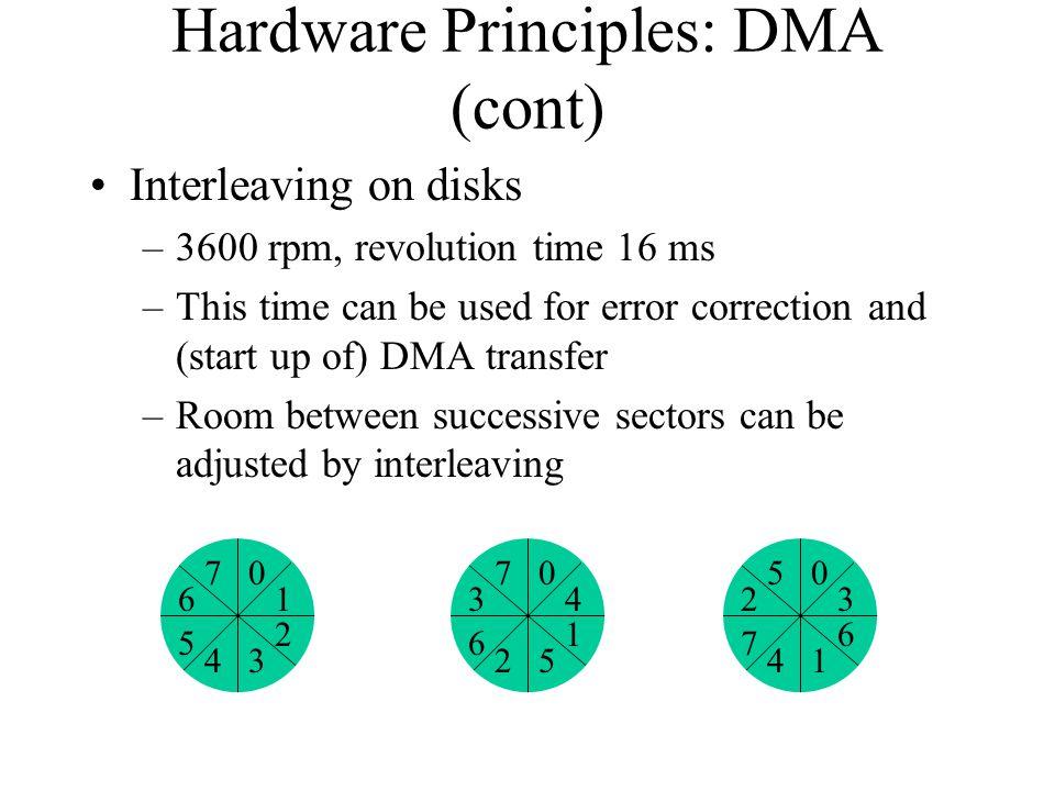 Hardware Principles: DMA (cont)
