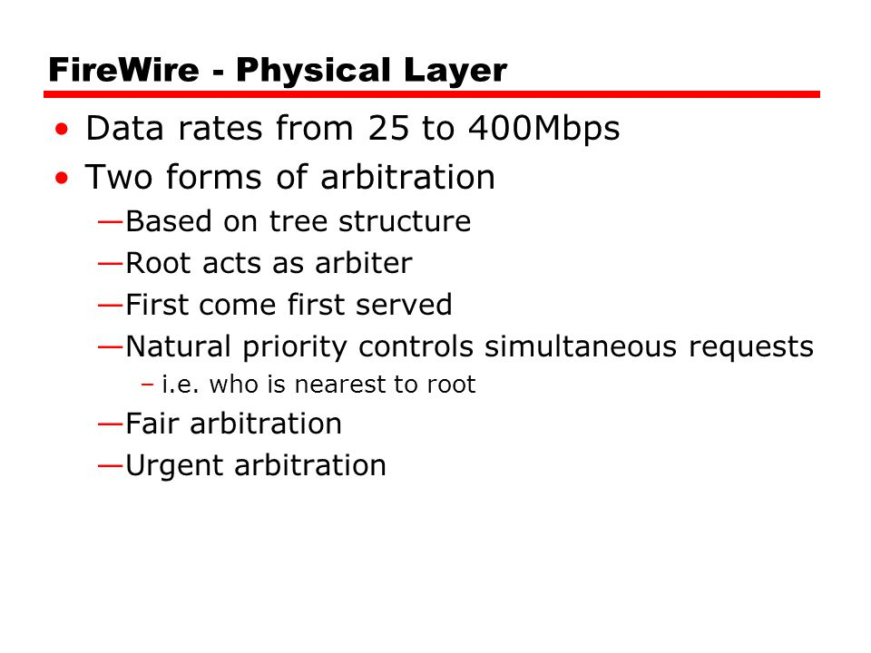 FireWire - Physical Layer