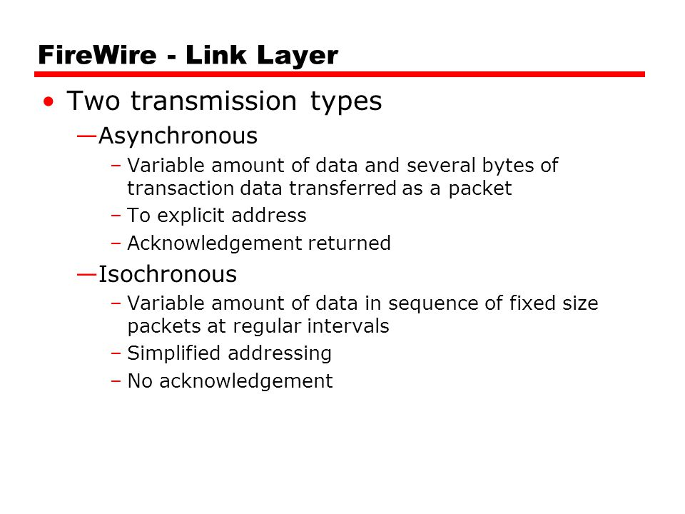 Two transmission types