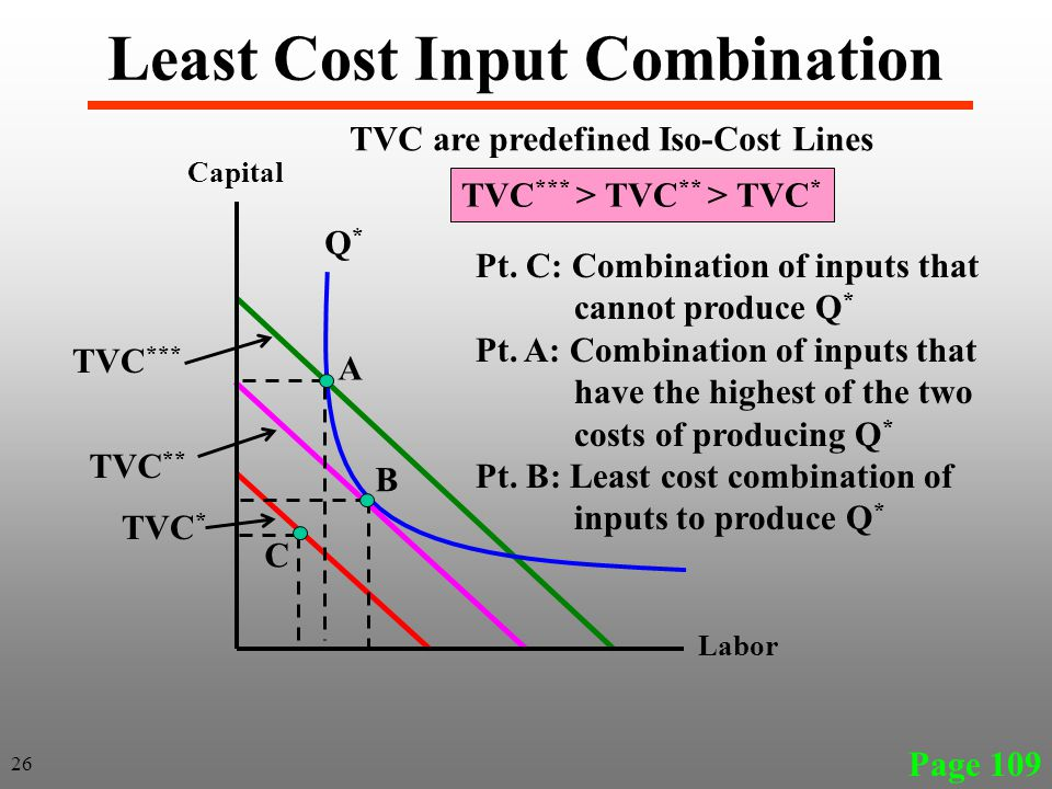 Least Cost Input Combination