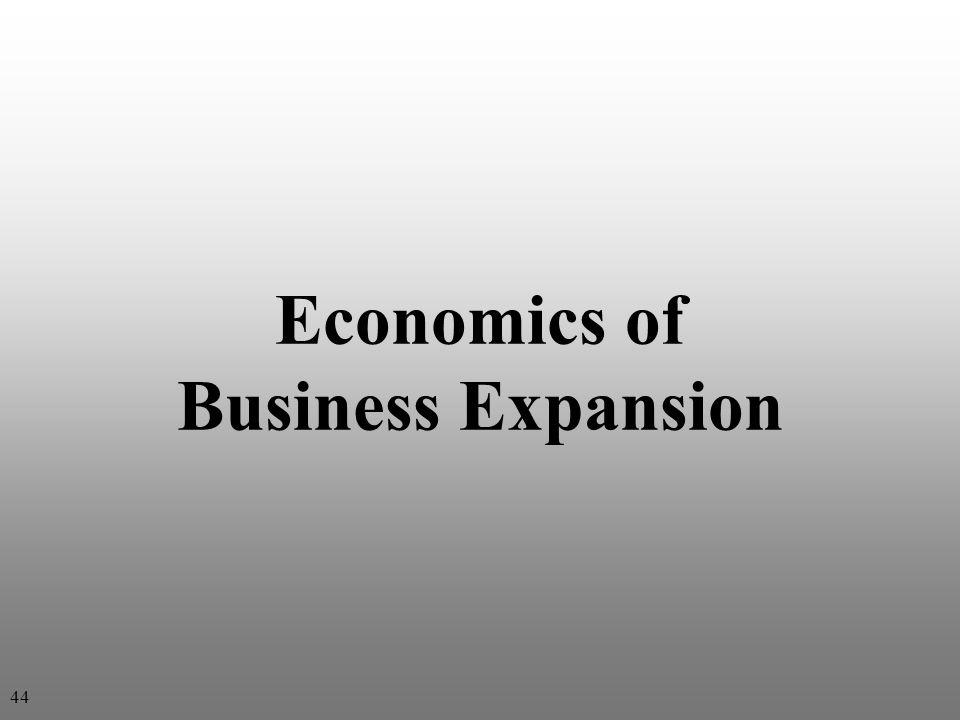 Economics of Business Expansion