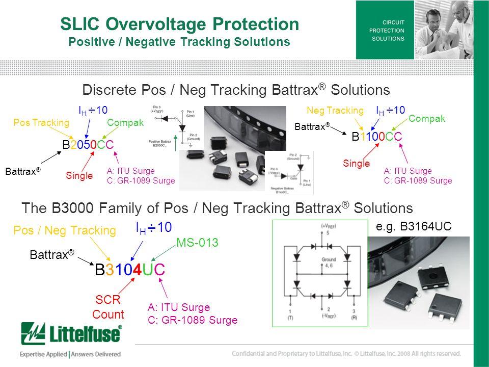 SLIC Overvoltage Protection Positive / Negative Tracking Solutions