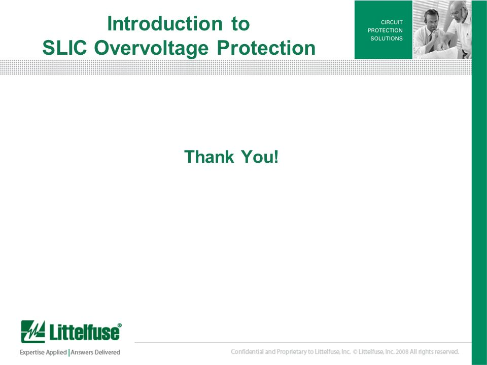 Introduction to SLIC Overvoltage Protection