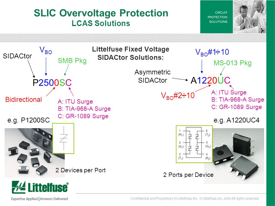 SLIC Overvoltage Protection LCAS Solutions