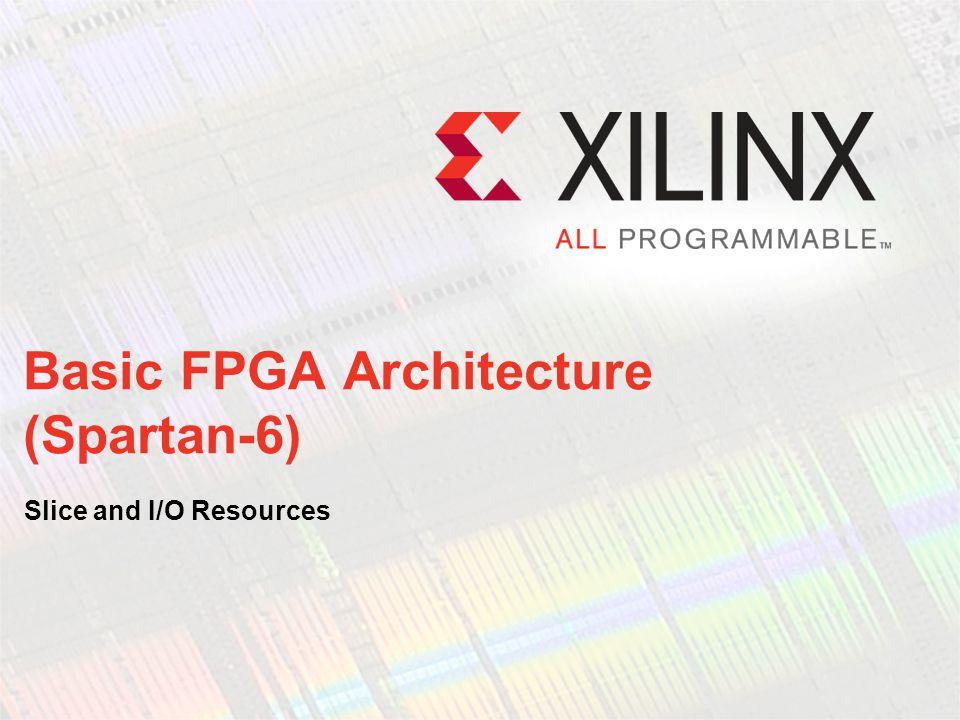 Basic FPGA Architecture (Spartan-6)