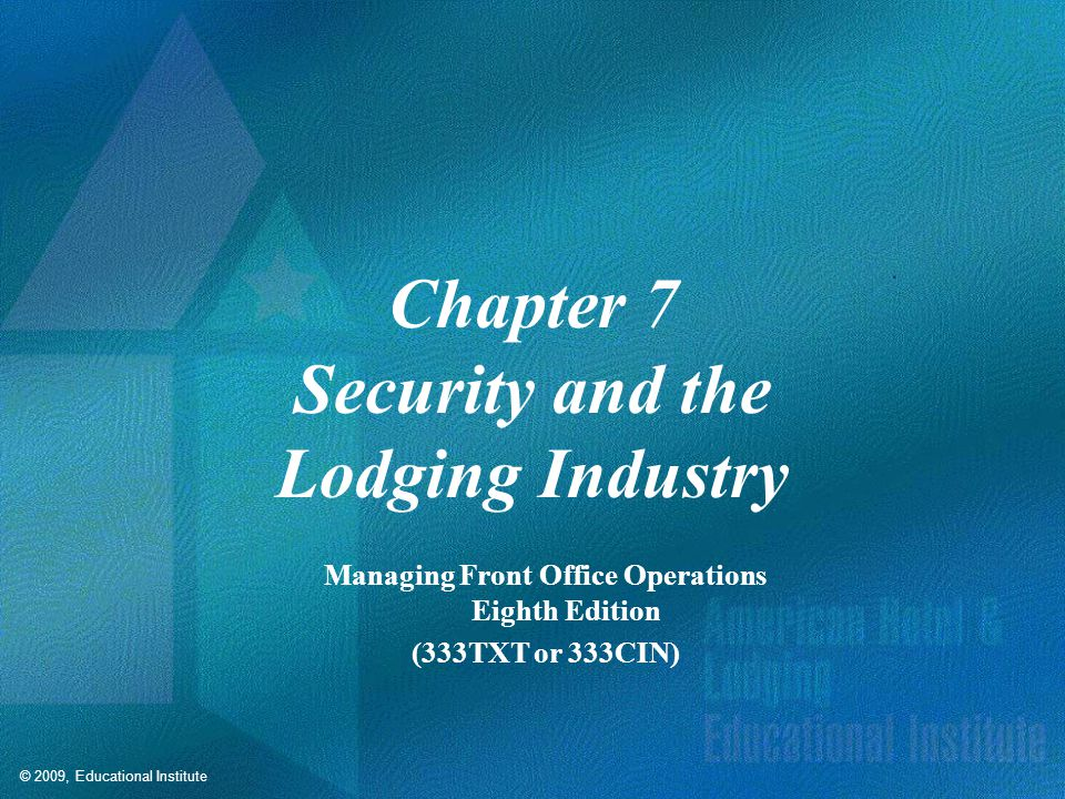 Competencies for Security and the Lodging Industry