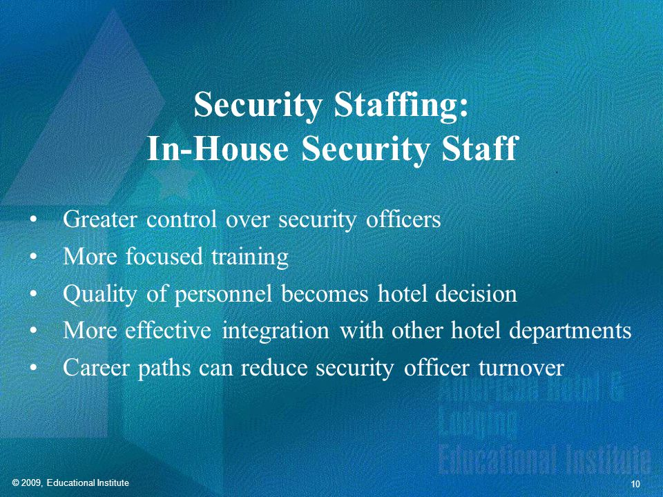Security Staffing: Off-Duty Police
