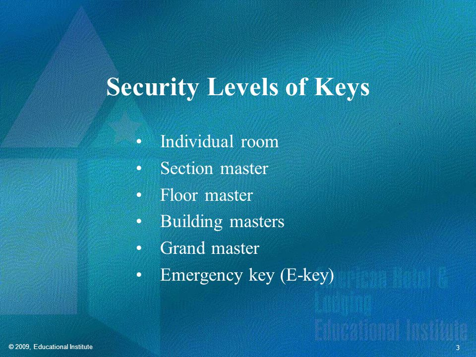 Common Security Procedures