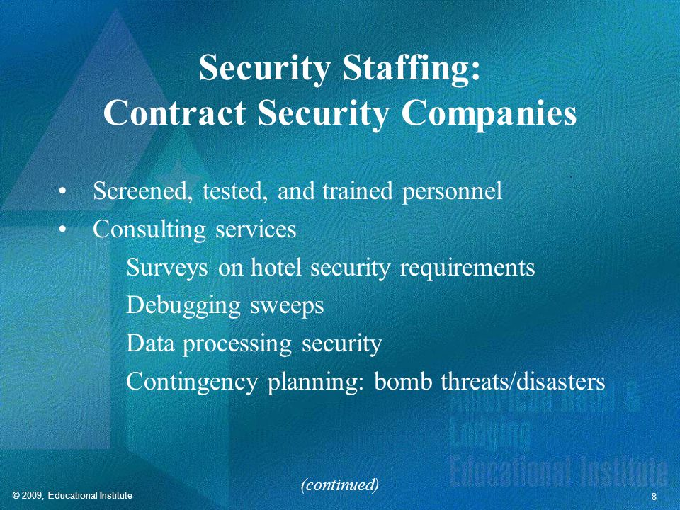 Security Staffing: Contract Security Companies