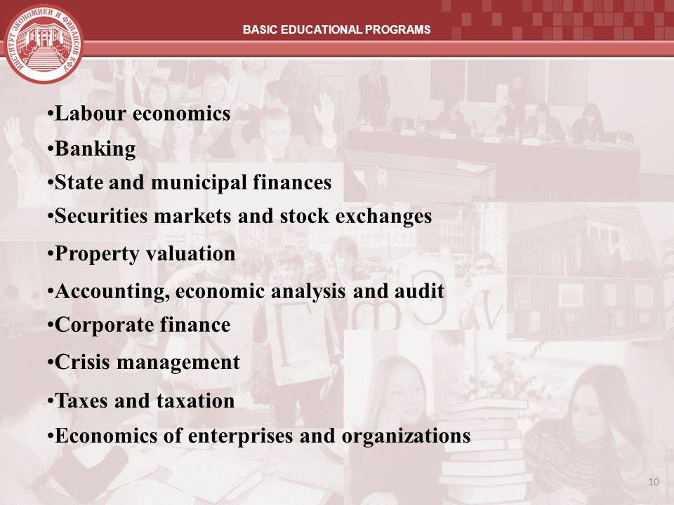 BASIC EDUCATIONAL PROGRAMS