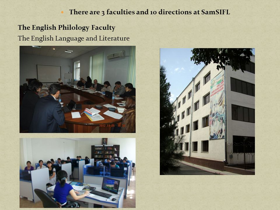 There are 3 faculties and 10 directions at SamSIFL