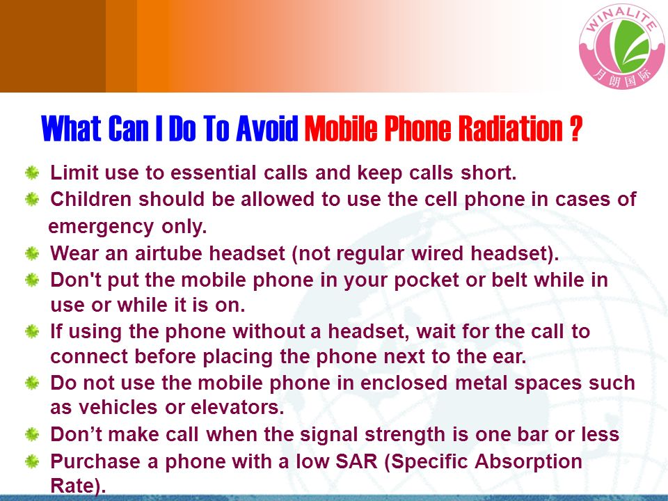 What Can I Do To Avoid Mobile Phone Radiation