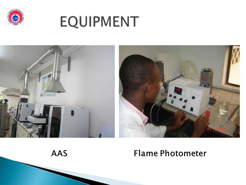 EQUIPMENT AAS Flame Photometer
