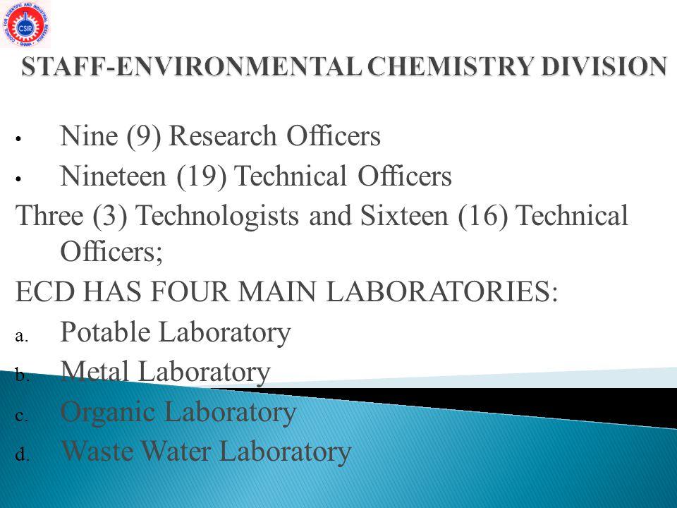 STAFF-ENVIRONMENTAL CHEMISTRY DIVISION