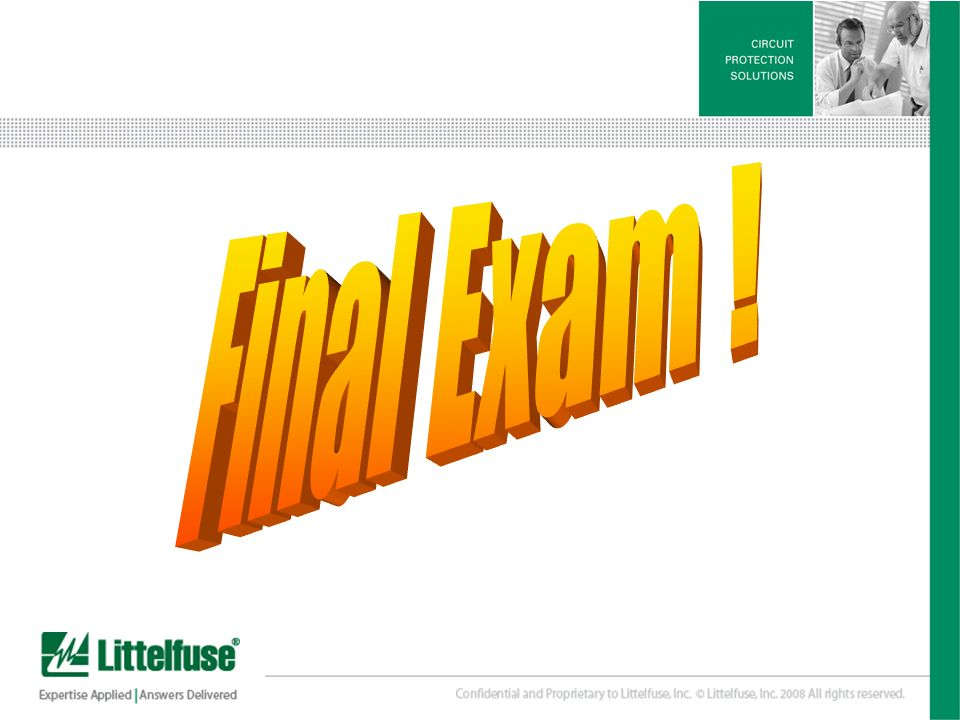 Final Exam !