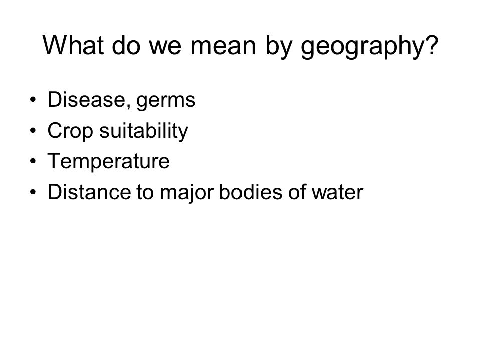 What do we mean by geography