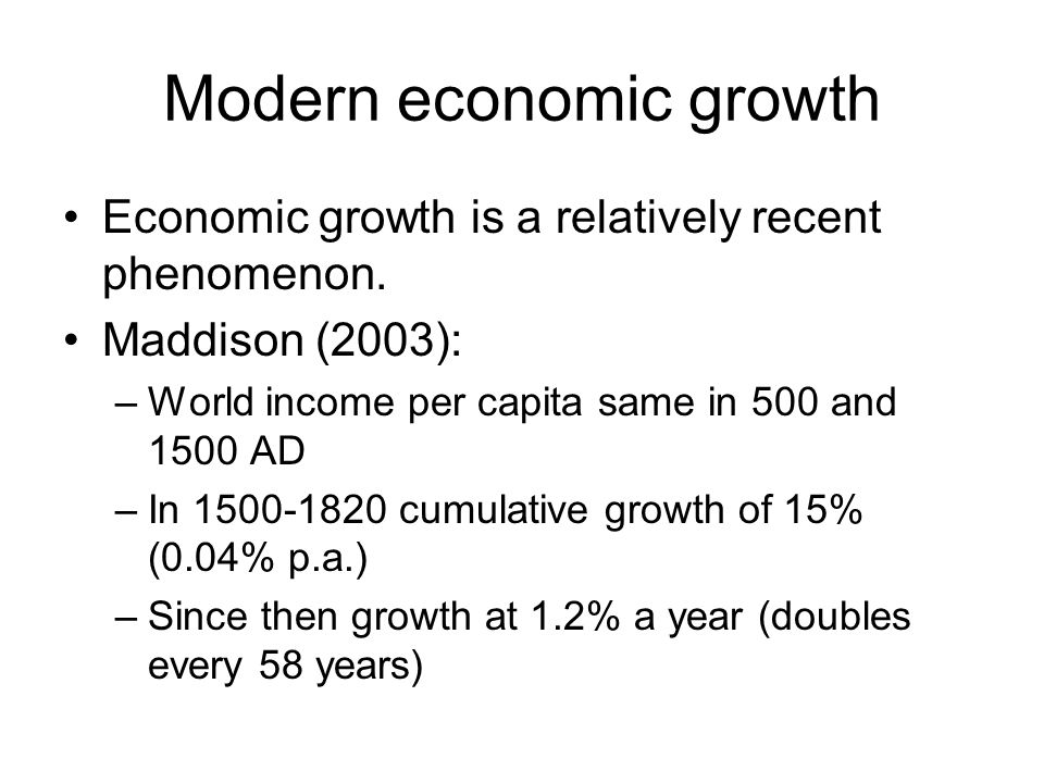 Modern economic growth