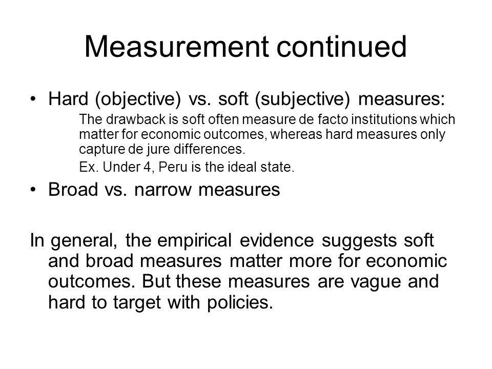 Measurement continued