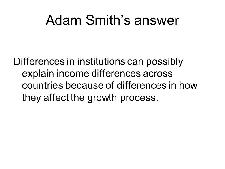Adam Smith's answer