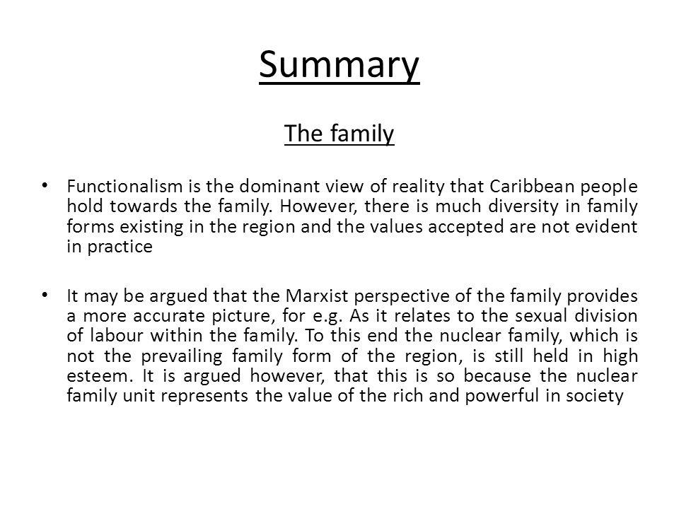 Summary The family.