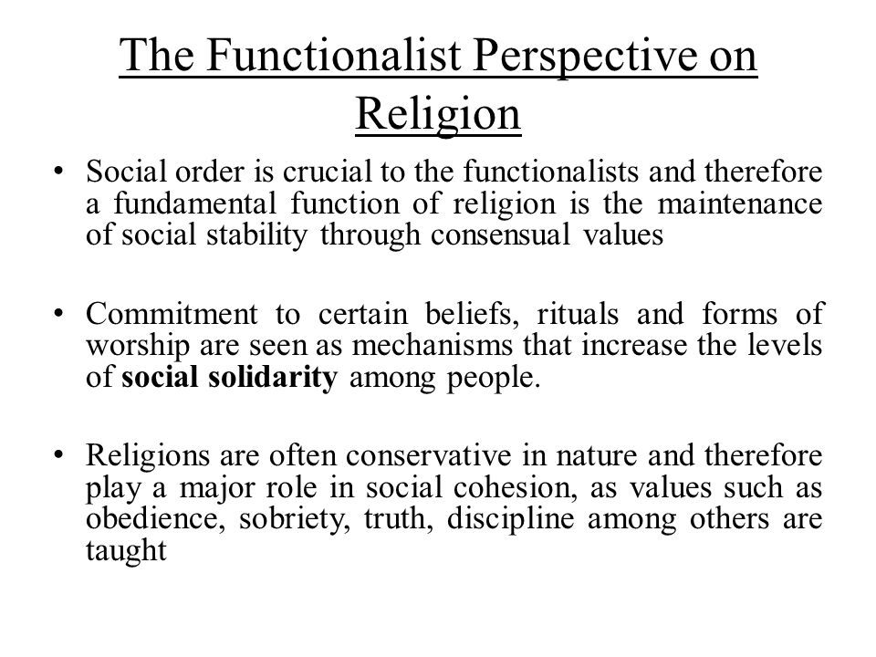 The Functionalist Perspective on Religion