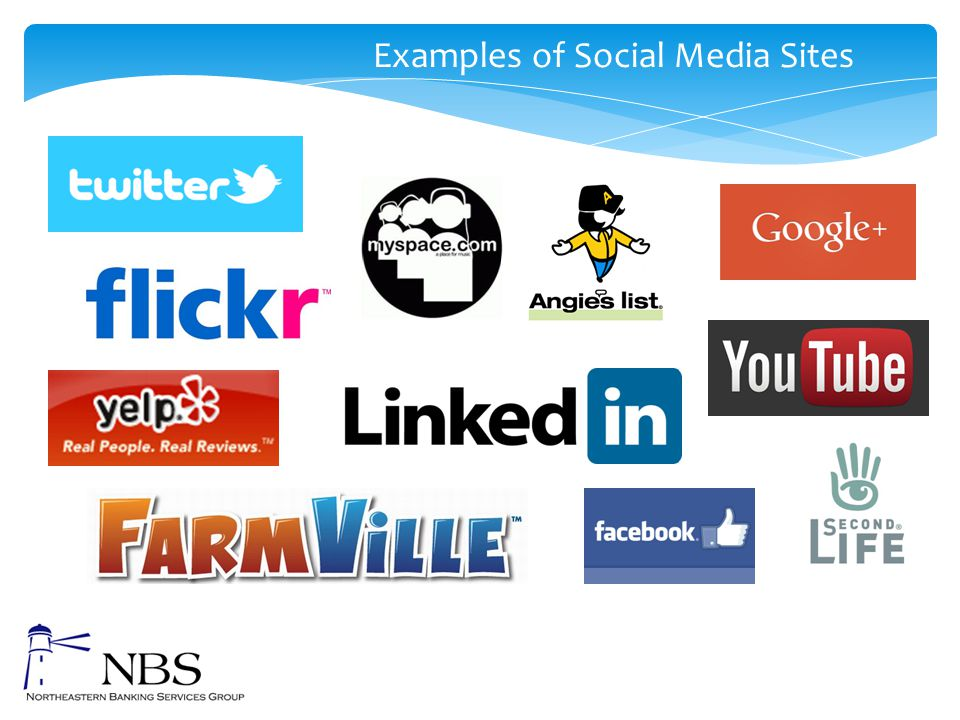 Examples of Social Media Sites