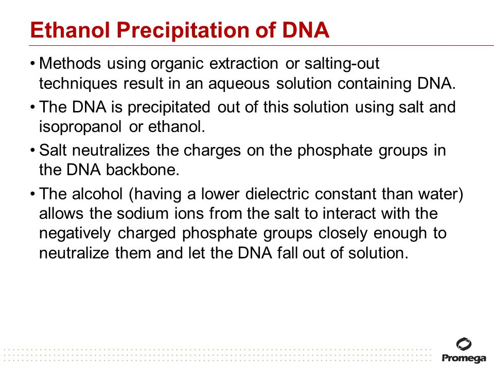Ethanol Precipitation of DNA
