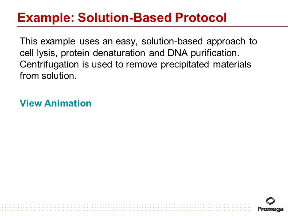 Example: Solution-Based Protocol