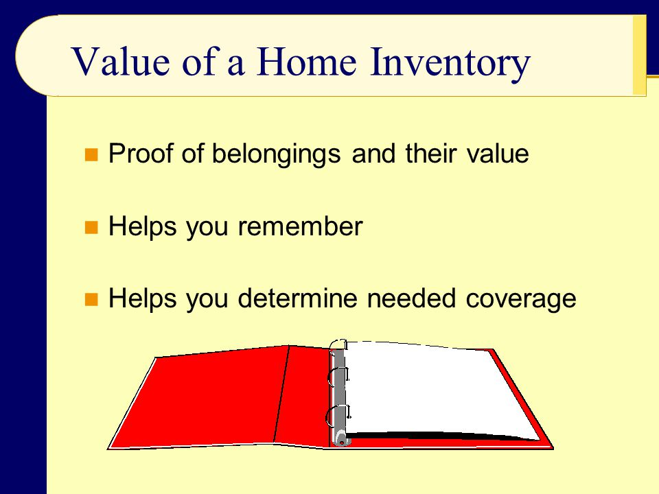 Value of a Home Inventory