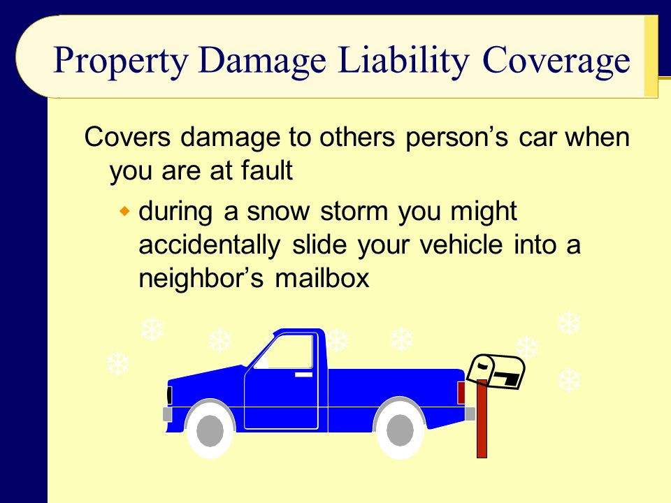 Property Damage Liability Coverage