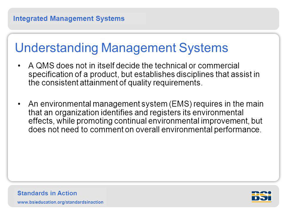 Understanding Management Systems
