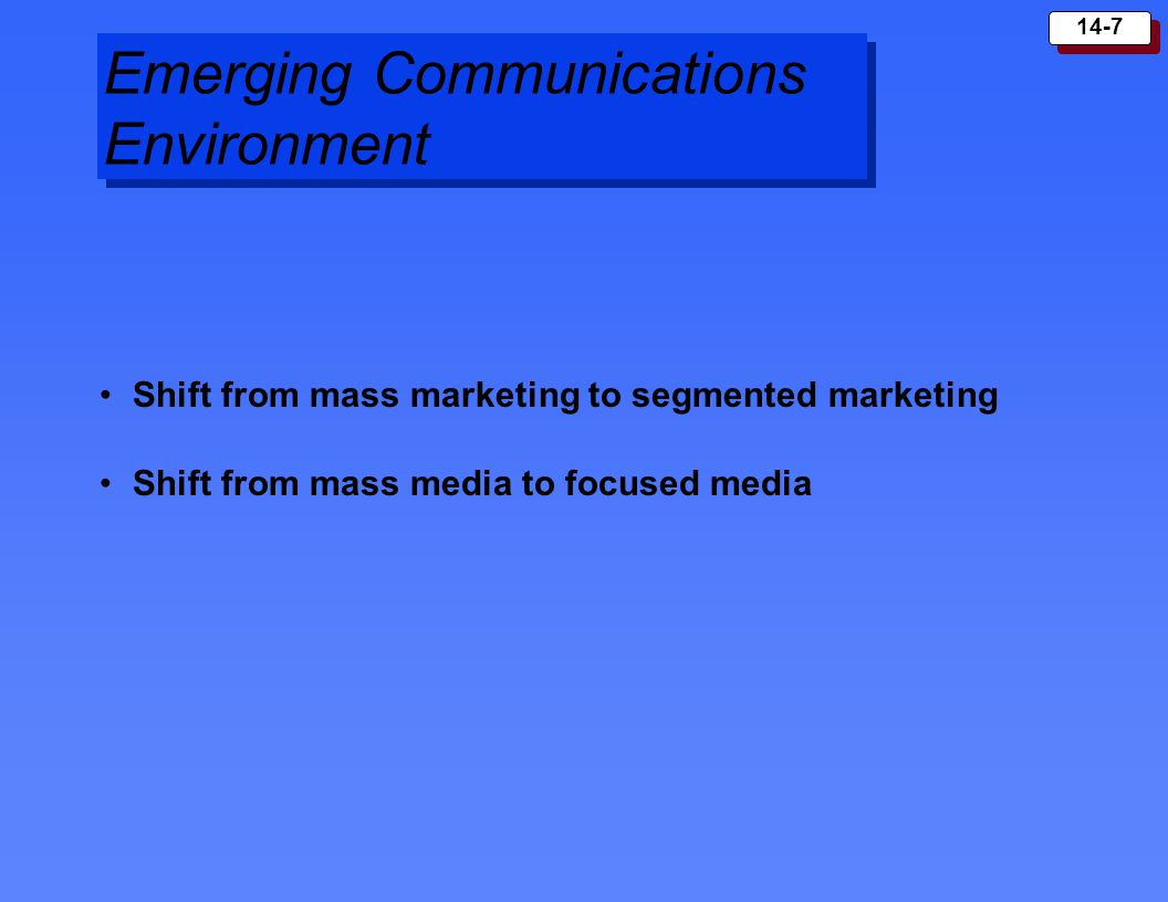 Emerging Communications Environment