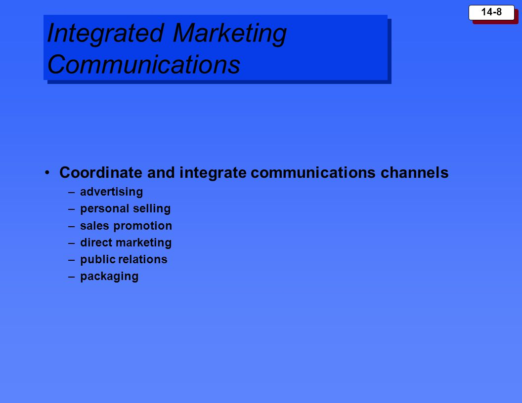 integrated marketing communications personal selling and