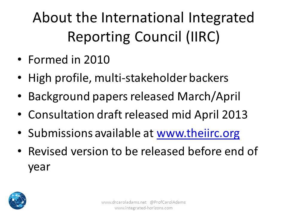 About the International Integrated Reporting Council (IIRC)