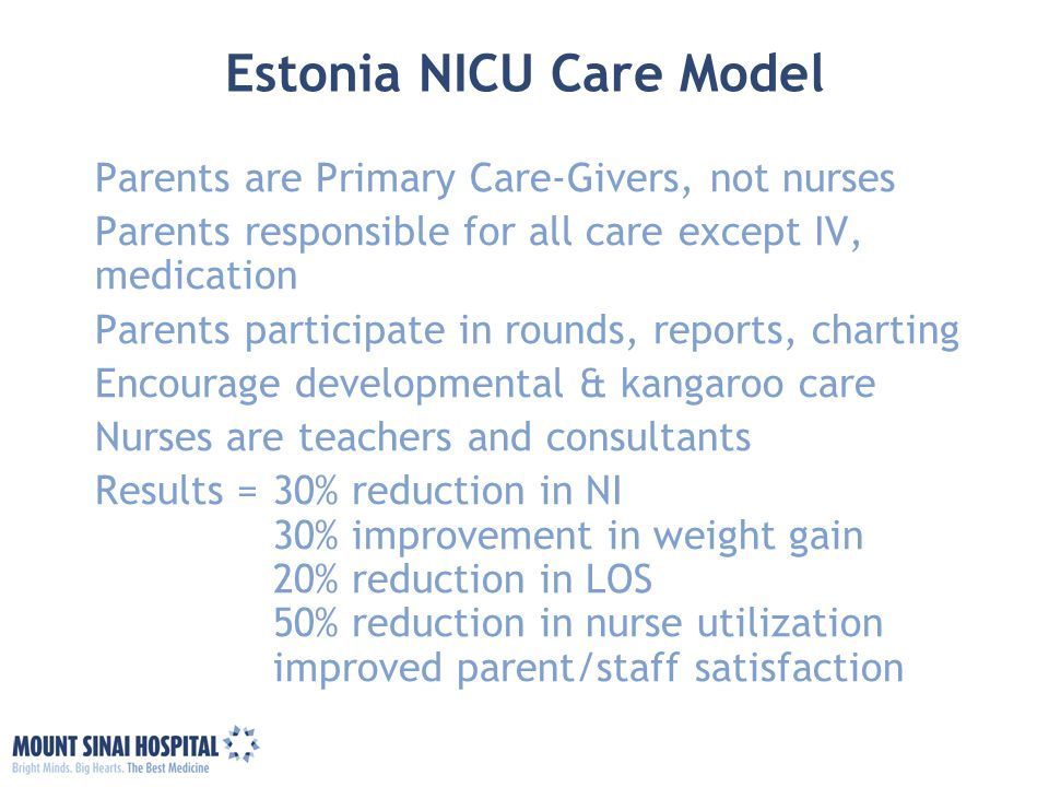 Estonia NICU Care Model