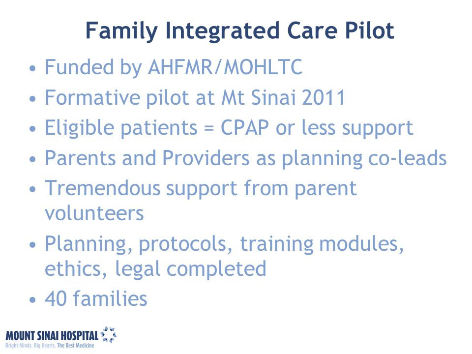 Family Integrated Care Pilot